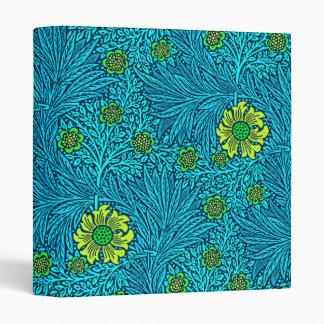 William Morris Marigold, Turquoise & Cobalt Blue Binder