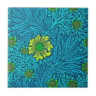 William Morris Marigold, Turquoise & Cobalt Blue Tile