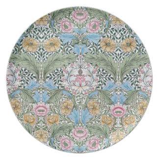 William Morris Myrtle Floral Chintz Pattern Plate