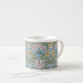 William Morris Myrtle Floral Pattern Espresso Mugs