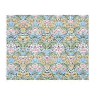 William Morris Myrtle Pattern Wrapped Canvas Gallery Wrap Canvas