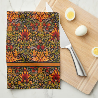 William Morris Over-Saturated Fall Colors Towel