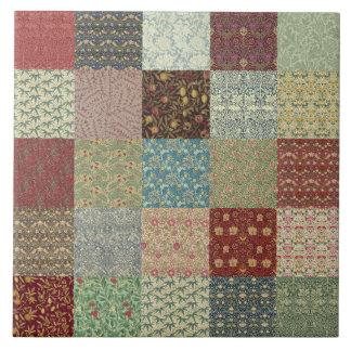William Morris Patchwork Quilt Ceramics Tile