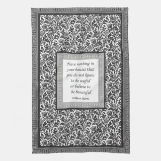 William Morris Pattern and Quotation Elegant Kitchen Towel