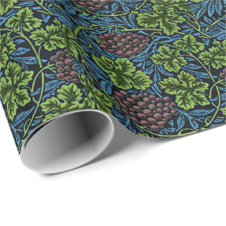 William Morris pattern, Vine in Blue Wrapping Paper
