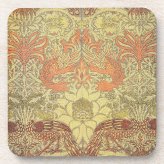 William Morris Peacock and Dragon Pattern Coaster