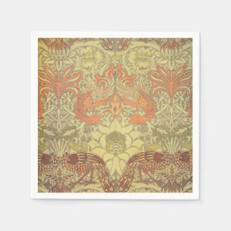 William Morris Peacock and Dragon Pattern Disposable Napkin