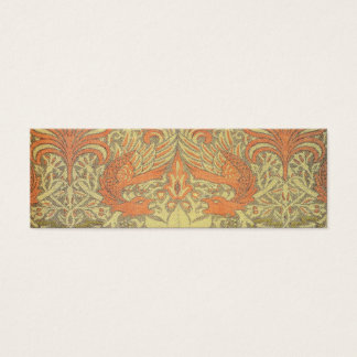 William Morris Peacock and Dragon Pattern Mini Business Card