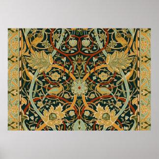 William Morris Persian Carpet Art Print Design