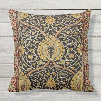 William Morris Persian Carpet Art Print Design Outdoor Pillow