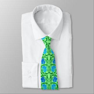 William Morris Pimpernel, Blue & Lime Green Tie