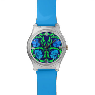 William Morris Pimpernel, Cobalt Blue and Green Watch