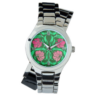 William Morris Pimpernel, Coral Pink and Green Watch
