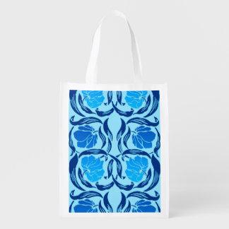 William Morris Pimpernel, Denim & Light Blue Reusable Grocery Bag