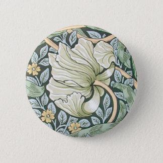 William Morris Pimpernel Floral Design 2 Inch Round Button