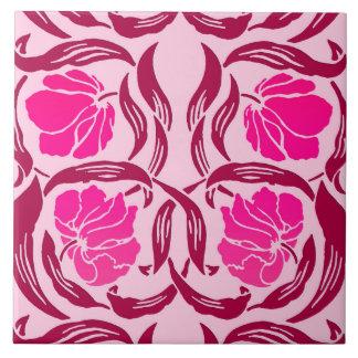 William Morris Pimpernel, Fuchsia & Light Pink Ceramic Tiles