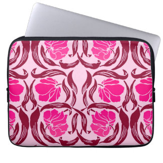 William Morris Pimpernel, Fuchsia & Light Pink Laptop Sleeve