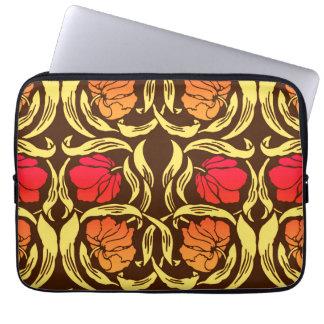 William Morris Pimpernel, Rust Orange and Brown Laptop Sleeve