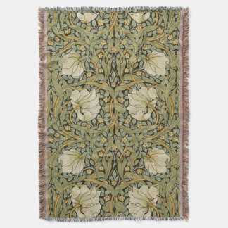 William Morris Pimpernel Vintage Pre-Raphaelite Throw Blanket