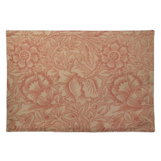 William Morris Pink and Poppy Textile Pattern Placemat