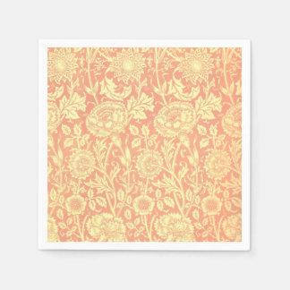 William Morris Pink and Rose Design Disposable Napkins