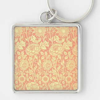 William Morris Pink and Rose Design Keychain