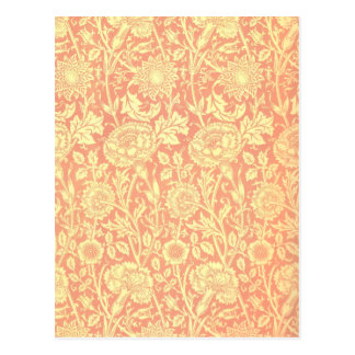 William Morris Pink and Rose Design Postcard