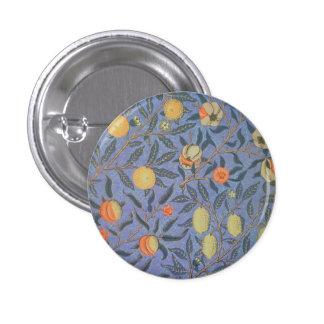 William Morris Pomegranate Floral Vintage Fine Art 1 Inch Round Button