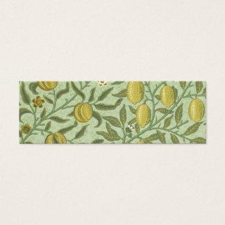 William Morris Pomegranate Fruit Design Mini Business Card