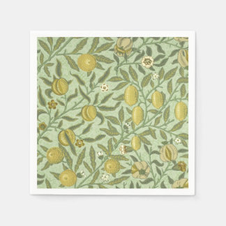 William Morris Pomegranate Fruit Design Paper Napkin