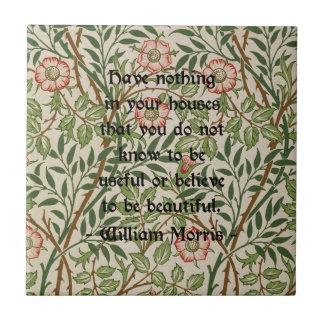 William Morris Quote Tile