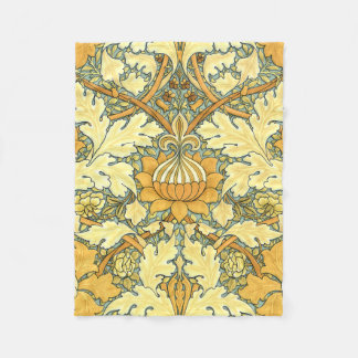 William Morris rich floral vintage pattern Fleece Blanket