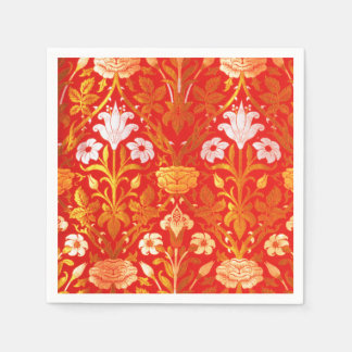 William Morris Rose and Lily Paper Napkin