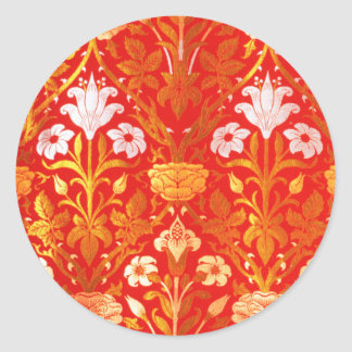 William Morris Rose and Lily Round Sticker
