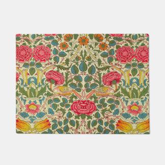 William Morris Rose Floral Vintage Doormat