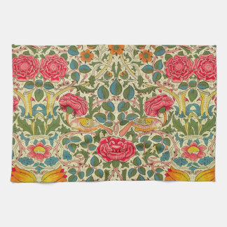 William Morris Rose Floral Vintage Kitchen Towels