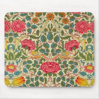 William Morris Rose Floral Vintage Mouse Pad