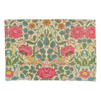 William Morris Rose Floral Vintage Pillowcase