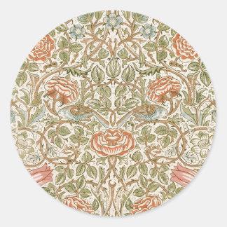 William Morris Rose Round Sticker