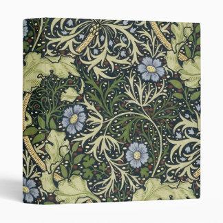 William Morris Seaweed Pattern Floral Vintage Art 3 Ring Binder