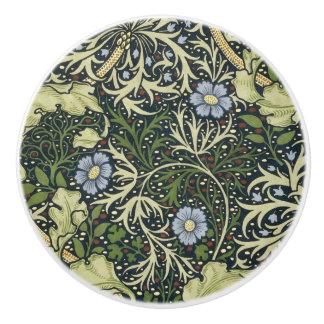 William Morris Seaweed Pattern Floral Vintage Art Ceramic Knob
