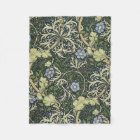 William Morris Seaweed Pattern Floral Vintage Art Fleece Blanket