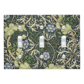 William Morris Seaweed Pattern Floral Vintage Art Light Switch Cover