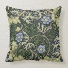 William Morris Seaweed Pattern Floral Vintage Art Throw Pillow