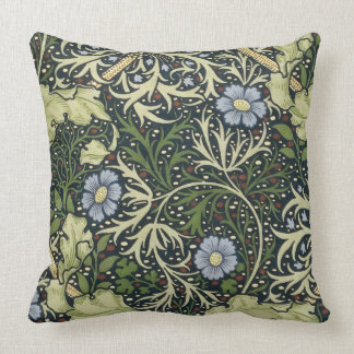 William Morris Seaweed Pattern Floral Vintage Art Throw Pillow