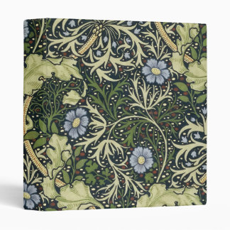 William Morris Seaweed Pattern Floral Vintage Art Vinyl Binder