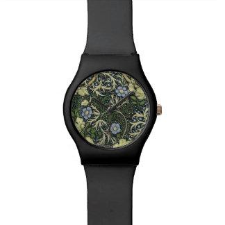 William Morris Seaweed Pattern Floral Vintage Art Watch