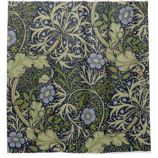William Morris Seaweed Pattern Shower Curtain.