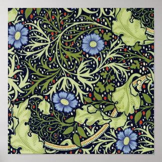 William Morris Seaweed Wallpaper Pattern Poster
