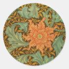 William Morris Single Stem Pattern Art Nouveau Classic Round Sticker